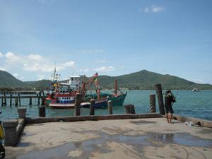 Bang Saray Pier Fishing Boat