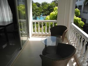 Balcon au Baan Suan Lalana
