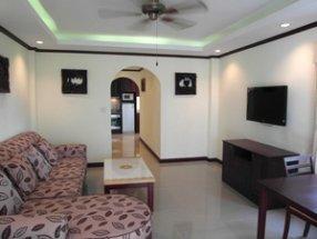 Гостиная с зеленой подсветкой