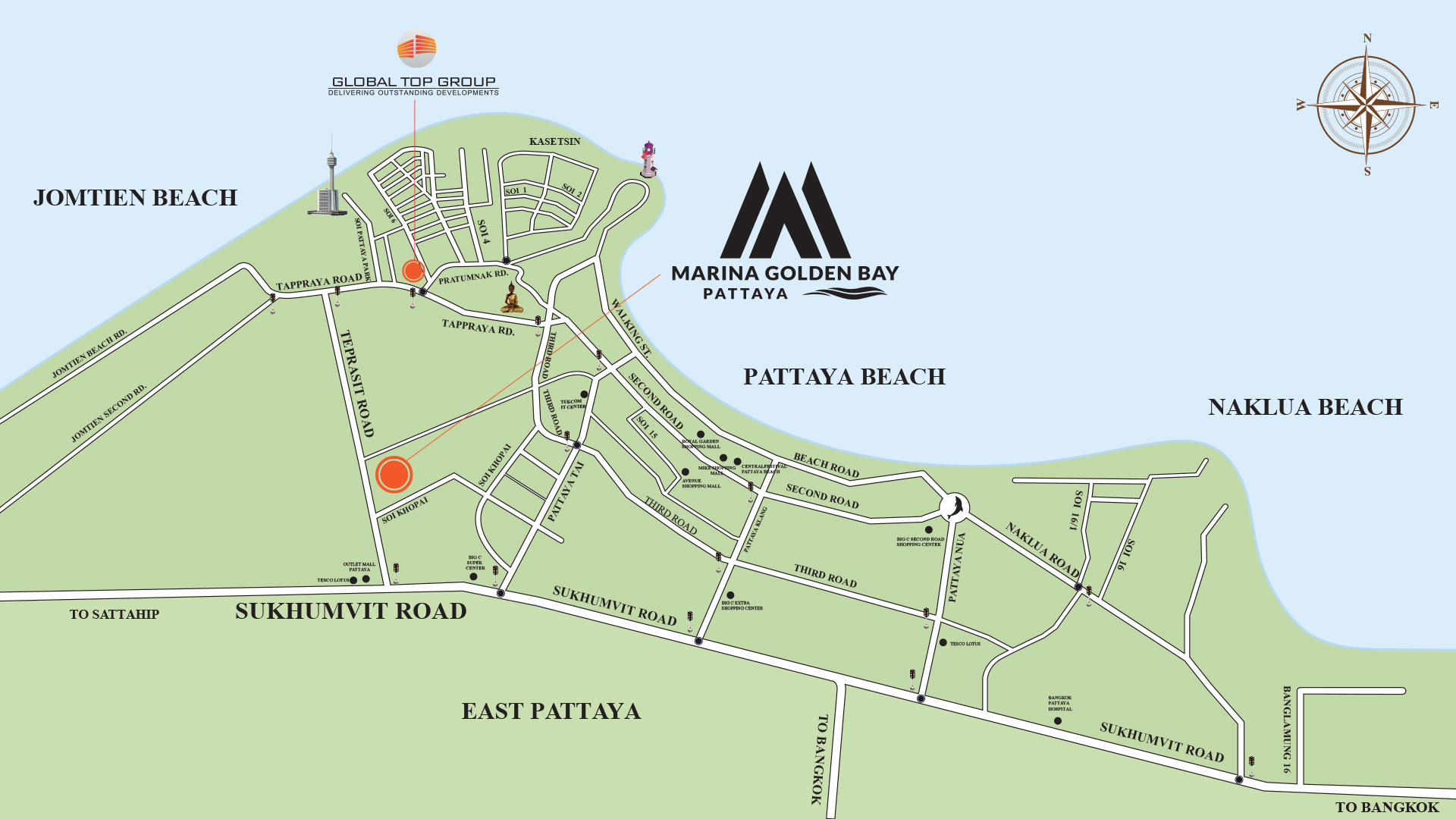 marina golden bay map