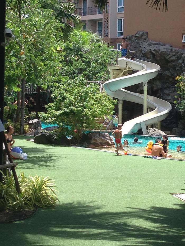 Tropical Garden Surrounding Pool