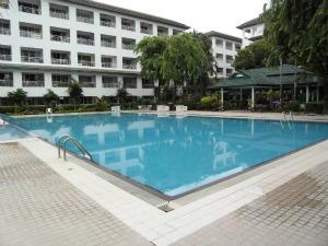 Большой бассейн и зона для загара