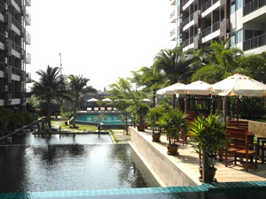 Tropische Gartenanlage