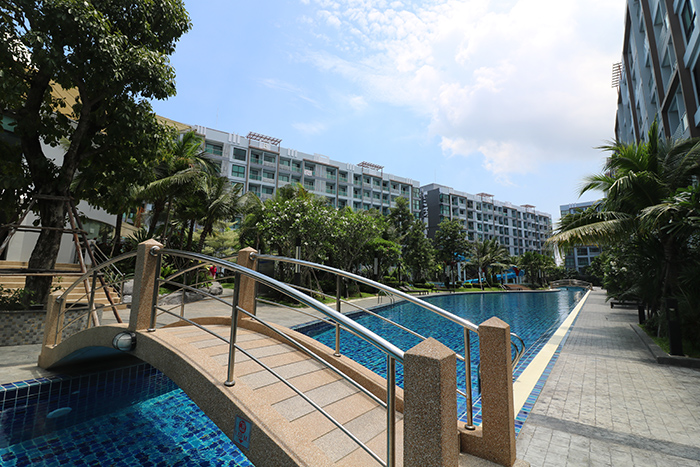 Condominiums Surrounding Pool