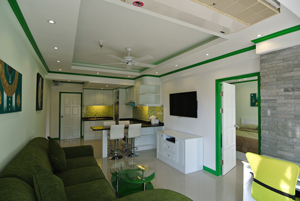 Living Room With LCD TV & DVD