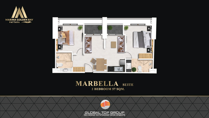Marbella - 57 sq/m 2 Bedroom