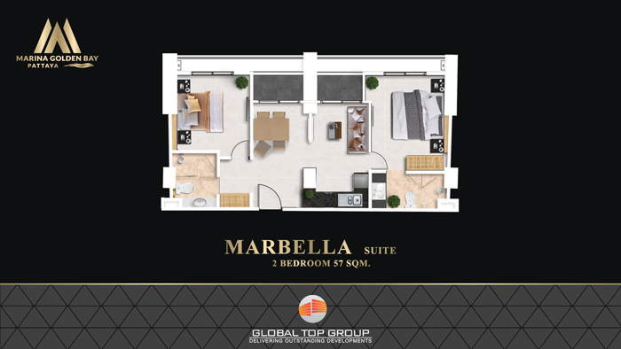 Marbella - 57 sq/m 2 Bedroom v2