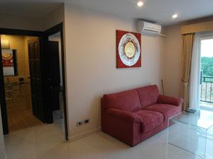 Гостиная и ванная комната