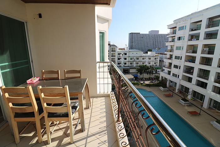 Balcony With Pool View