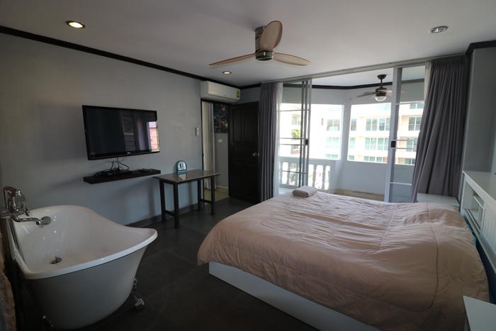 Bathtub in Bedroom