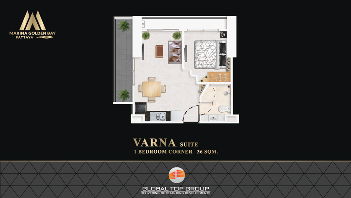 VARNA - 36 sq/m 1 Bedroom