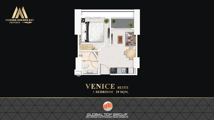 VENICE - 29 sq/m 1 Bedroom