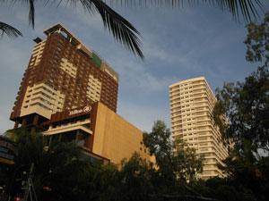 Next to Hotel Hilton