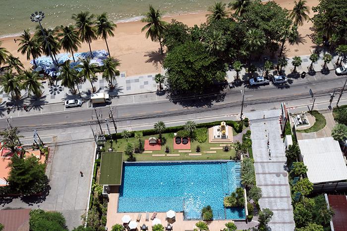 海景,泳池和海滩景观