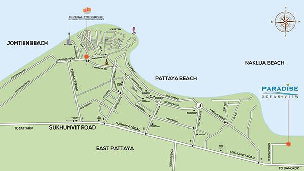 Paradise Ocean View Condominium Map