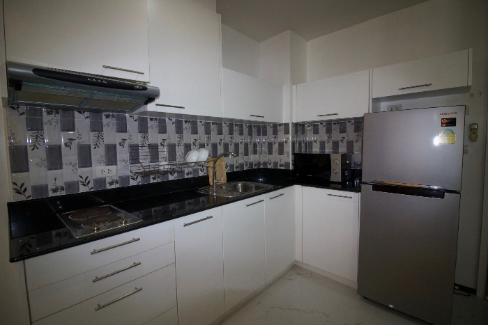 Kitchen With Full Sized Fridge
