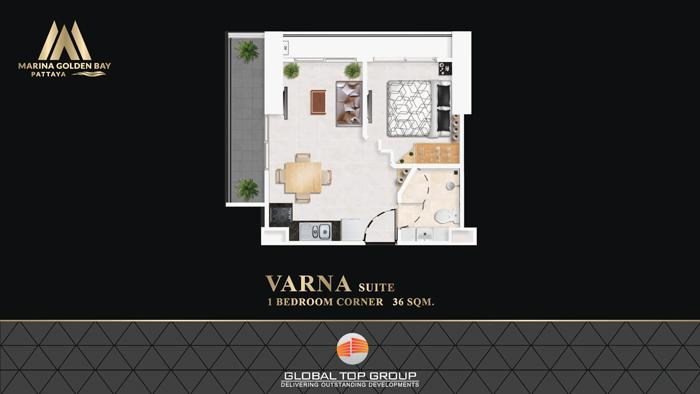 VARNA - 36 sq/m 1 Bedroom