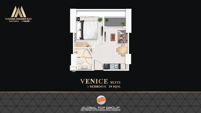 VENICE - 29 sq/m 1 Bedroom