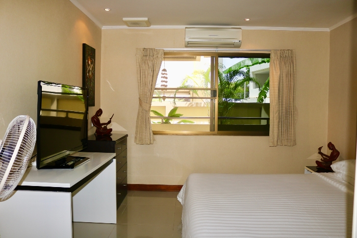 Bedroom with LCD TV